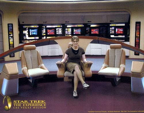 Me on the bridge of USS Enterprise
